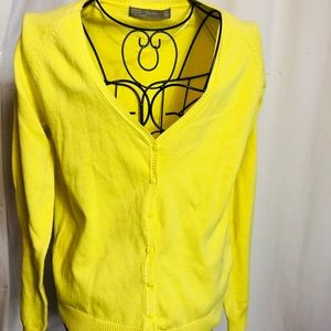 Zara Yellow Cardigan long sleeve sweater Sz L